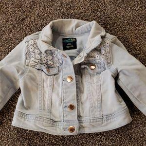 Girls Jean jacket size 12 month